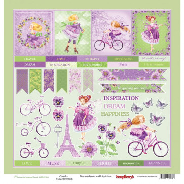 "ScrapBerry's Precious Memories Single-Sided Cardstock 12x12"" Cards #1"