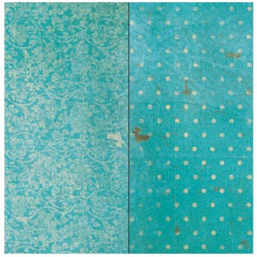"BoBunny Double Dot Vintage Double-Sided Cardstock 12x12"" - Ocean Vintage"