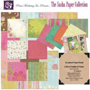 """Prima Marketing Paper Pack 12X12"""" The Sasha Paper Collection TASTER"""