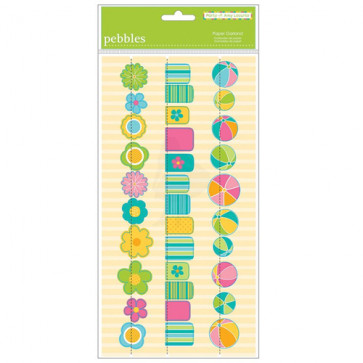 Pebbles Party Pool Vellum Garlands 12""