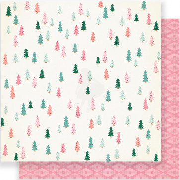 "Crate Paper Fa La La Double-Sided Cardstock 12x12"" - Evergreen"