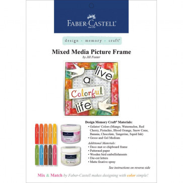 Gratis Leaflet Faber Castell Project Sheet - Mixed Media Picture Frame