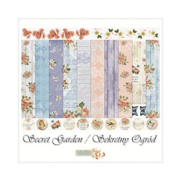 "Studio75 Paper Pack 12x12"" - Secret Garden"