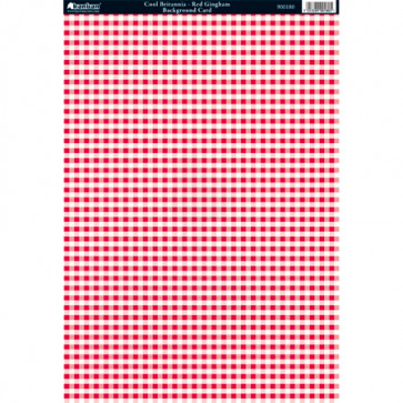 Kanban A4 Background Card - Cool Britannia Red Gingham