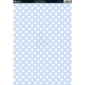 Kanban A4 Background Card - Seaside Polka Dot