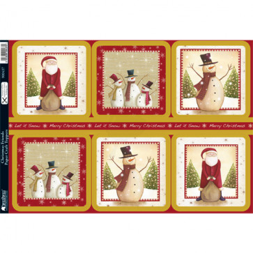 A4 Kanban Paper Craft Toppers - Christmas Friends