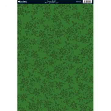 Kanban A4 Background Card - Green Holly