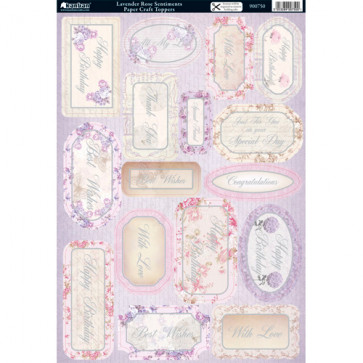 Kanban A4 Paper Craft Toppers - Lavender Rose Sentiments