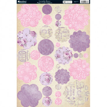 A4 Kanban Paper Craft Toppers - Lavender Roses