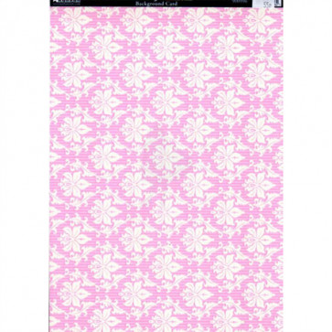 Kanban A4 Background Card - Italiano Vintage Damask Pink