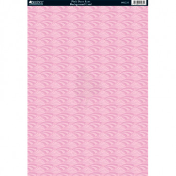 Kanban A4 Background Card - Pink Deco Fans