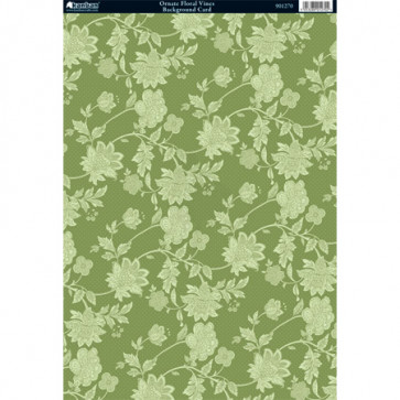 Kanban A4 Background Card - Ornate Floral Vines