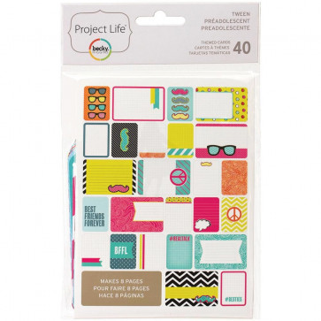 Project Life Themed Cards - Tween