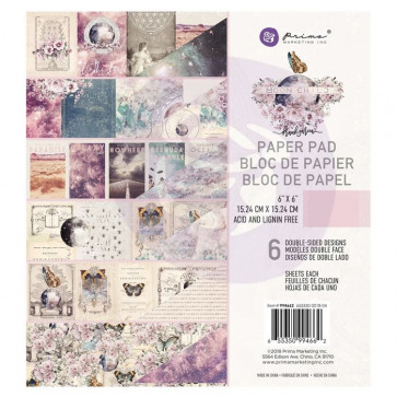 """Prima Marketing Double-Sided Paper Pad 6x6"""" Moon Child TASTER"""