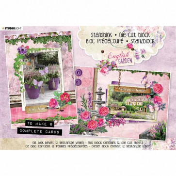 Studio Light English Garden Die-Cut Card Toppers A5 Makes 6 Cards