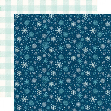 "Echo Park A Perfect Winter Double-Sided Cardstock 12x12"" Snowy Night"