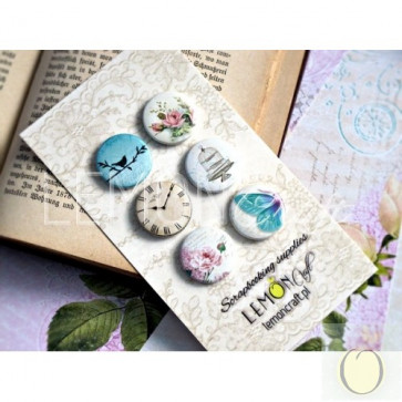 LemonCraft Dreamy Mornings Collection - Selfadhesive Buttons / Badges