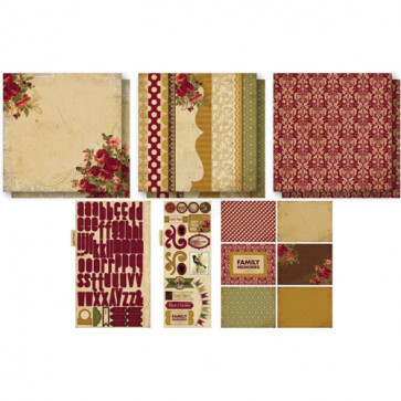 """Ruby Rock-It Bella! Boutique Inspiration Kit 12x12"""" Pages - Family"""