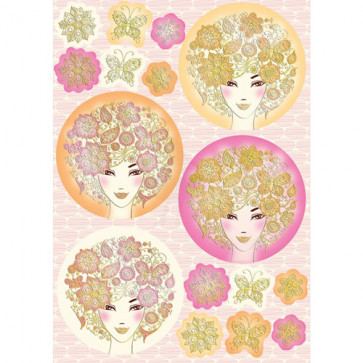 Kanban A4 Paper Craft Toppers - Bella Ladies - Pink