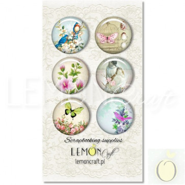 LemonCraft Neverending Summer Collection - Selfadhesive Buttons / Badges