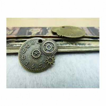 Beyond Visions Metal Pynt Charms - Steampunk Markant Ur