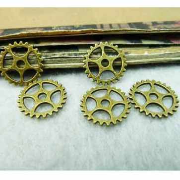 Findings Steampunk Gears 1,3 cm - Antik Bronze