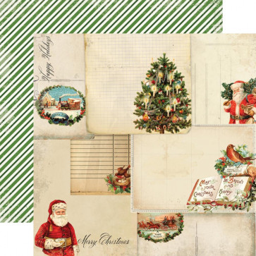 "Carta Bella Christmas Time Dobbeltsidet Cardstock 12x12"" - Christmas Cards"