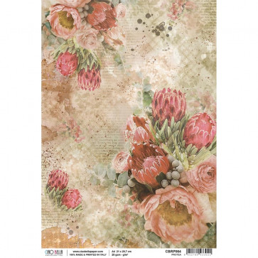 Ciao Bella Rice Paper Sheet A4 Protea, The Muse