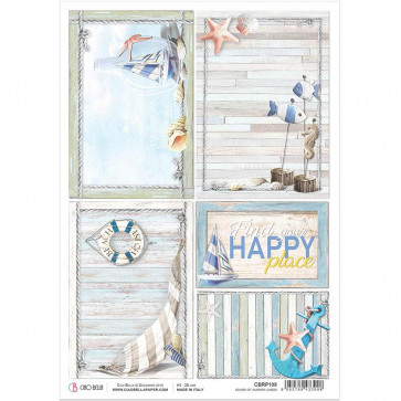 Ciao Bella Rice Paper Sheet A4 Sound Of Summer Cards