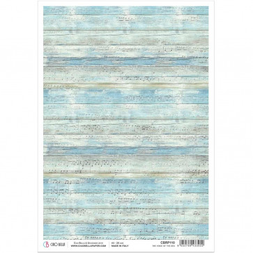 Ciao Bella Rice Paper Sheet A4 The Voice Of The Sea