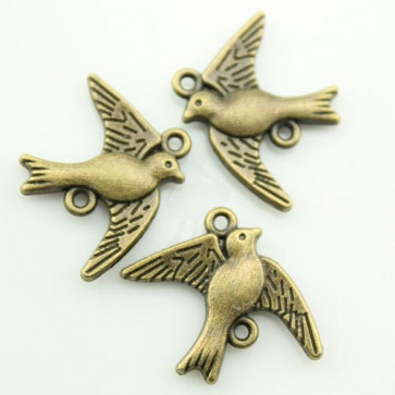Charms Vintage Bird
