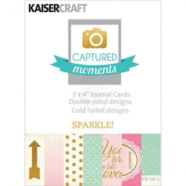 """KaiserCraft Captured Moments Double-Sided Cards 3x4"""" - Sparkle! With Some Gold Foiled Designs TASTER"""
