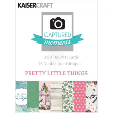 "KaiserCraft Captured Moments Double-Sided Cards 3x4"" - Pretty Little Things TASTER"