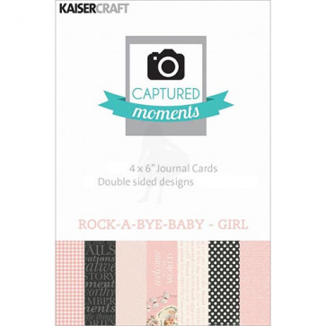 "KaiserCraft Captured Moments Themed Cards 4x6"" - Rock-A-Bye-Baby-Girl TASTER"