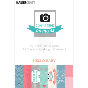 "KaiserCraft Captured Moments Dobbeltsidet Cards 4x6"" - Hello Baby TASTER"