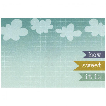 Cut & Paste Charm Cardstock Journaling Card - Sweet