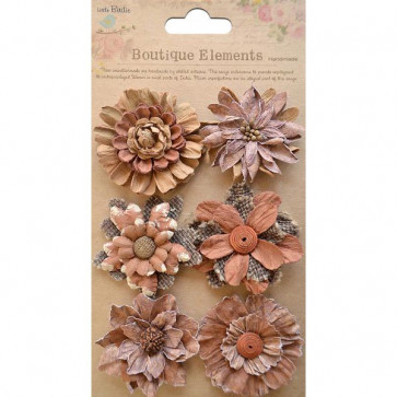 Little Birdie Fusion Blossoms Rustic Earth 6pcs Vintaj