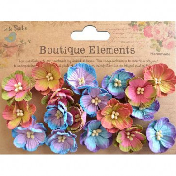 Little Birdie Embossed Daisies French Carnival 18pcs Boutique Elements