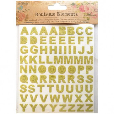Little Birdie Alpha Glitter Sticker Sheet Boutique Elements - French Carnival