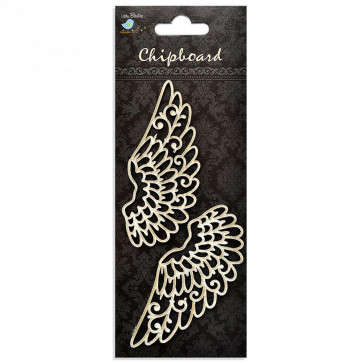 Little Birdie Chipboard Wings 2Pcs