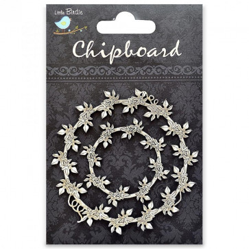 Little Birdie Chipboard Captivating Vine 2Pcs