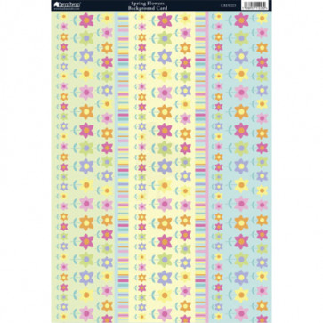 Kanban A4 Background Card - Spring Flowers