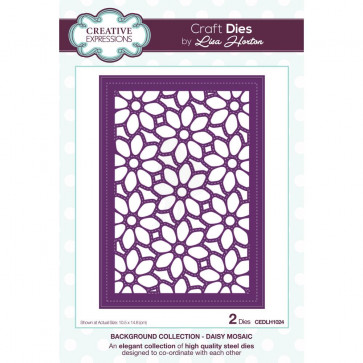 Creative Expressions Background Dies By Lisa Horton Daisy Mosaic