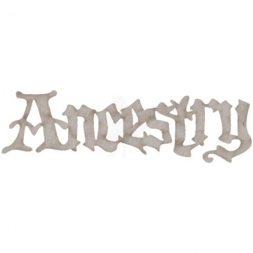 Ancestry Die-Cut Grey Chipboard Word