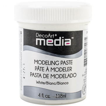 Deco Art Media Modeling Paste 4oz/118ml - White