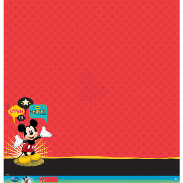 "Disney Speciality Paper 12x12"" - Mickey Mouse Glitter Thermography"