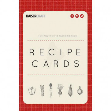 "KaiserCraft Bon Appetit Double-Sided Recipe Cards 4x6""  Recipe TASTER"