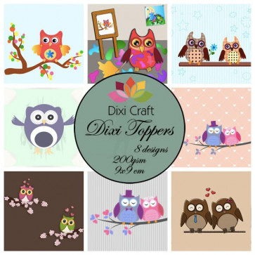 Dixi Craft Toppers 9x9 cm TASTER