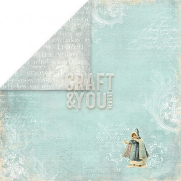 "Craft & You Design Frozen Dobbeltsidet Cardstock 12x12"" Paper - 02"