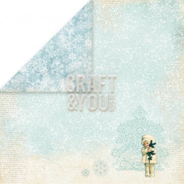 "Craft & You Design Frozen Dobbeltsidet Cardstock 12x12"" Paper - 05"